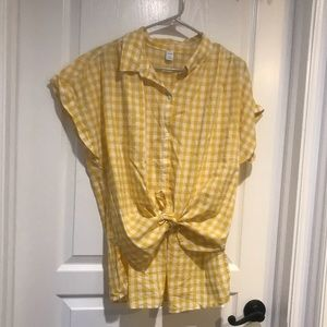 Old Navy Checkered Top